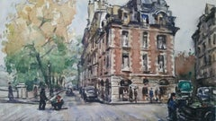 Ecole de Paris Mid 20th Century, A City Street Scene