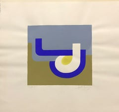 ARLETTE MARTIN (b.1924) SUPERB FRENCH GEOMETRIC ABSTRACT PAINTING -