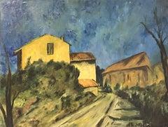 FERNAND AUDET (1923-2016) SIGNED FRENCH POST-IMPRESSIONIST OIL - PROVENCE HOUSES