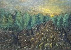 FERNAND AUDET (1923-2016) SIGNED FRENCH POST-IMPRESSIONIST OIL - OLIVE TREES