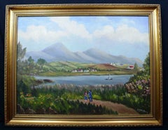 Donegal Mountains Ireland Signed Original Oil Painting