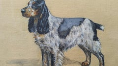 English School Mid 20th Century Oil Painting Cocker Spaniel Dog