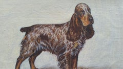 English School Mid 20th Century Oil Painting of Cocker Spaniel Dog