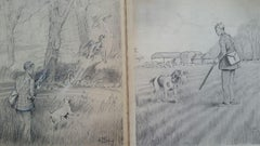 1930s Pair of Sporting Dogs Shooting Country Pursuits Sporting Art
