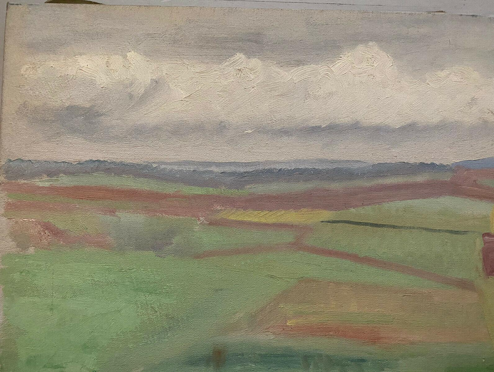 GENEVIEVE ZONDERVAN (1922-2013) FRENCH OIL PAINTING - PANORAMIC LANDSCAPE