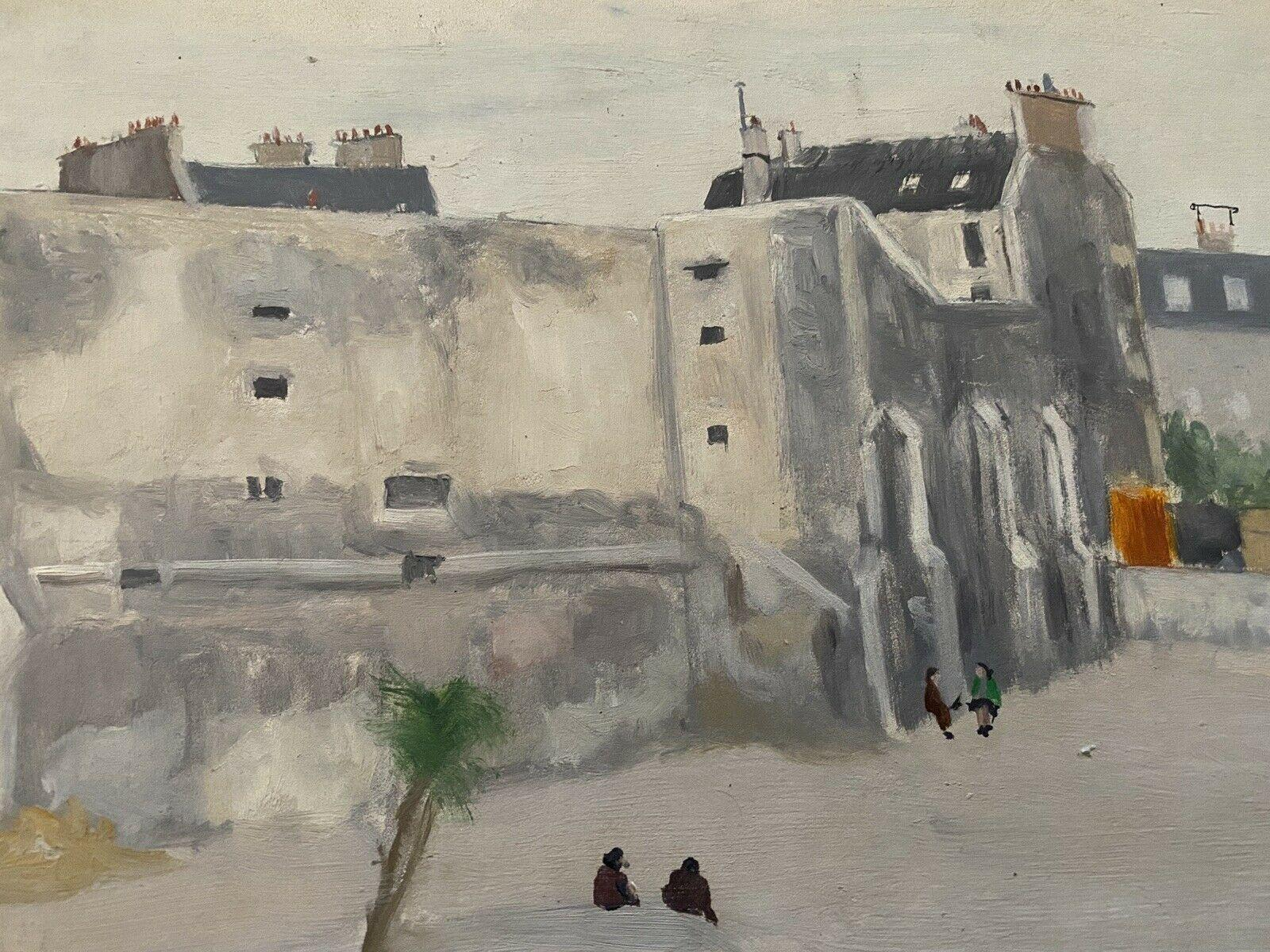 GENEVIEVE ZONDERVAN (1922-2013) FRENCH OIL PAINTING - OLD CITY BUILDINGS & FIGS