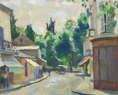 ARMAND-JACQUES ASSUS (1892-1977) SIGNED FRENCH 1950'S OIL - FRENCH TOWN SCENE