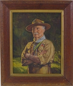 Lord Baden-Powell, Fine Portrait Oil Painting - Founder & Chief Scout