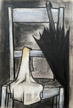 ROGER BONAFE (B.1932) ORIGINAL PAINTING FRENCH MODERNIST INTERIOR STILL LIFE