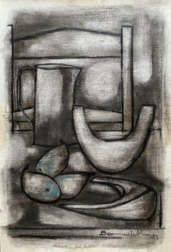 ROGER BONAFE (B.1932) ORIGINAL PAINTING FRENCH MODERNIST ABSTRACT STILL LIFE