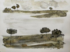 ROGER BONAFE (B.1932) ORIGINAL PAINTING FRENCH MODERNIST - LANDSCAPE SKETCHES