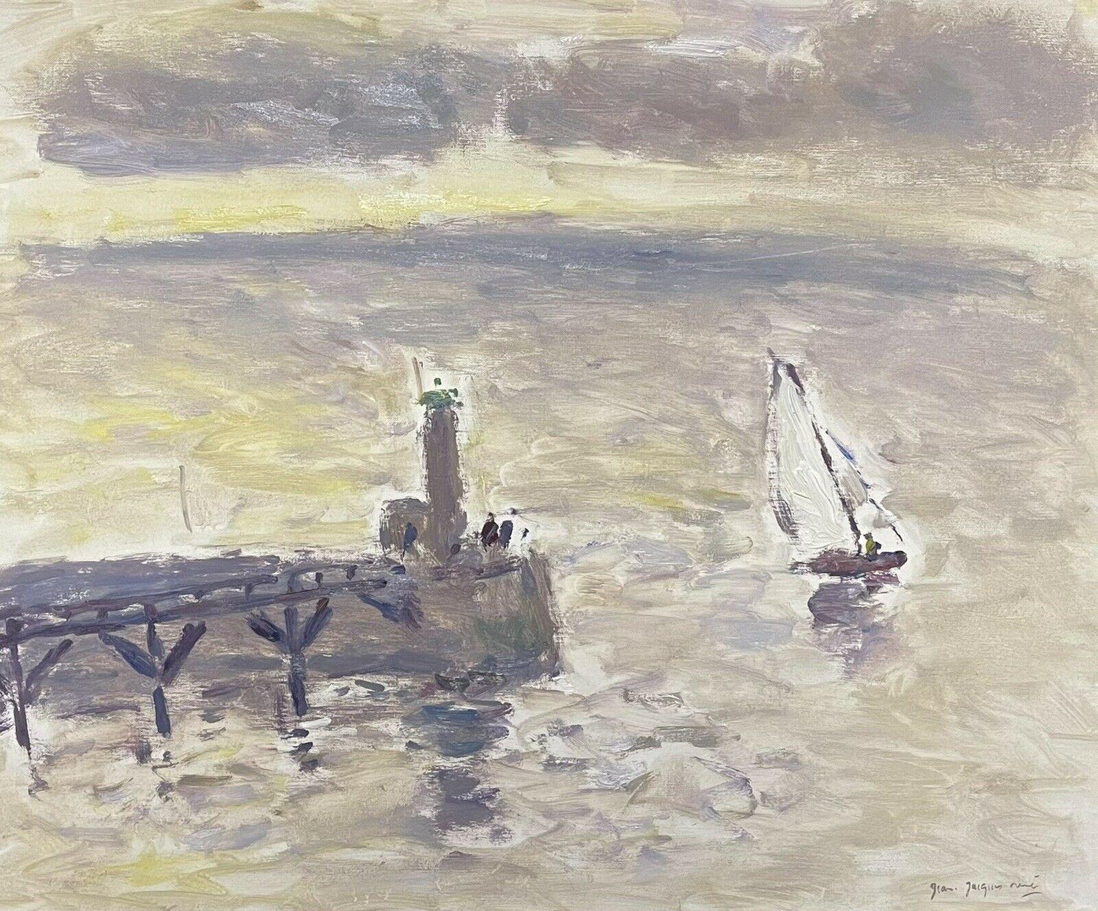 Sailing Boats Fecamp Brittany Coastline, Signed French Impressionist Oil