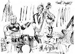 Toshiko Akiyoshi Trio at Jazz Forum Arts - Ink on Paper - Original Sketch