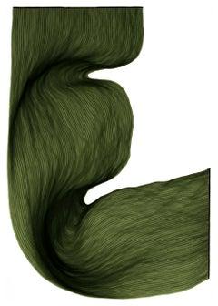 Velvet Green - Original Ink Drawing on Paper - Modern Abstract