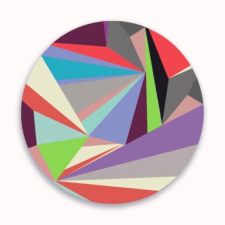 Rachel Berg Abstract Print -  Spring (In Bloom) - Print on Birch Panel - Abstract Geometric