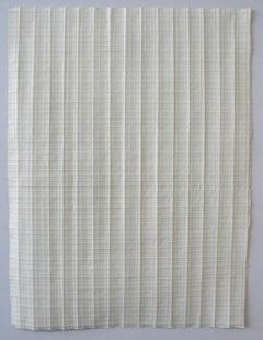 Half & Half Again - Original Work on Folded Paper - Abstract Minimalist