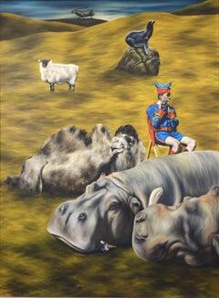 A Hippopotamus Lay Down to Die Near the Town of Clontibret