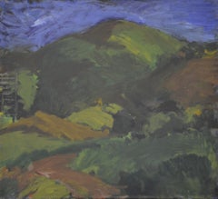 Landscape - Colorful Expressionist Blue Green