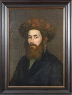 Portrait of a Hasidic Man Wearing a Shtreimel