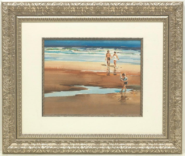 Arnold Broedeker Figurative Art - FAMILY AT THE BEACH