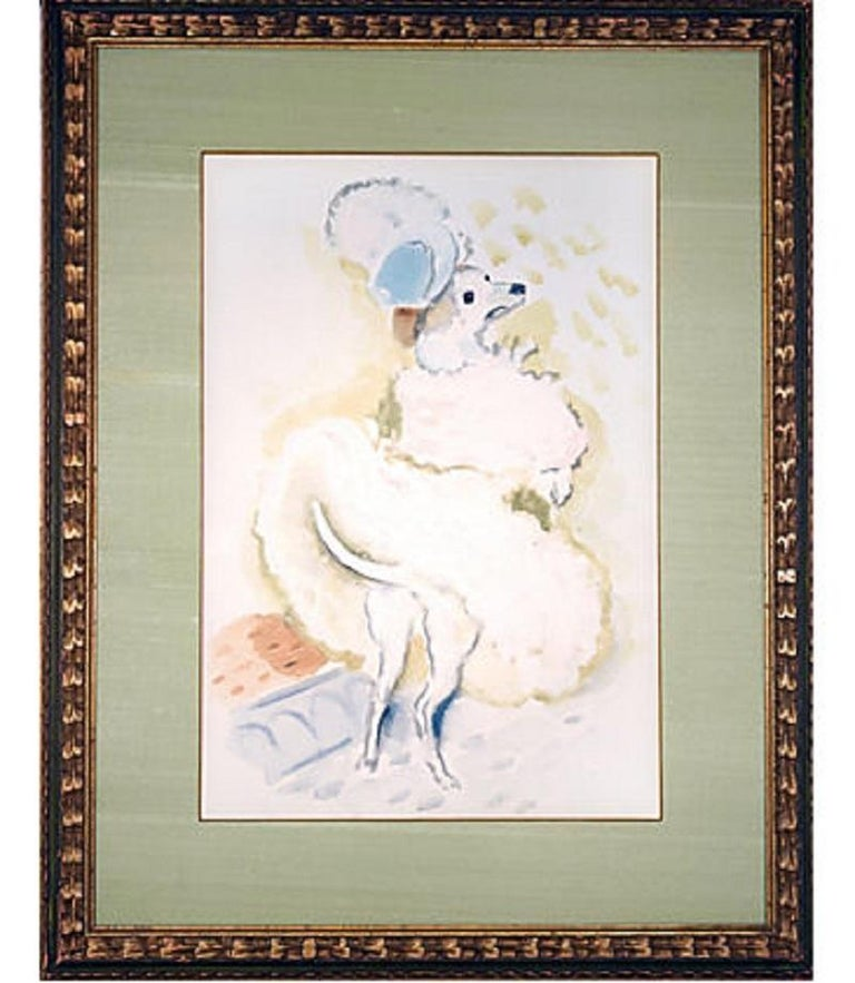 Watercolor by Marcel Vertès (1895-1961) owned by the New York art dealer Phyllis Lucas, co-owner with her husband Sidney Z. Lucas of the Phyllis Lucas Gallery / Old Print Center, whose relationship with Vertès began in the early 1940s and