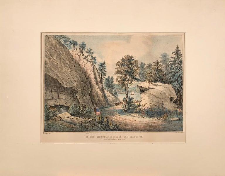 Frances Flora Bond Palmer Print - The Mountain Spring.  Near Cozzen's Dock, West Point.