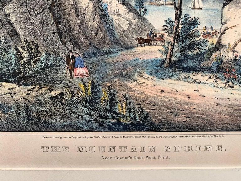 The Mountain Spring.  Near Cozzen's Dock, West Point. - Print by Frances Flora Bond Palmer