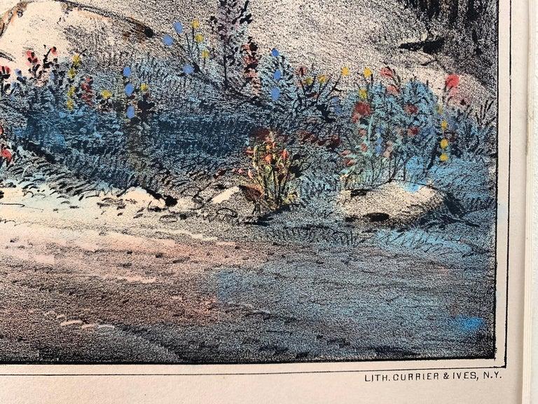 The Mountain Spring.  Near Cozzen's Dock, West Point. - Realist Print by Frances Flora Bond Palmer
