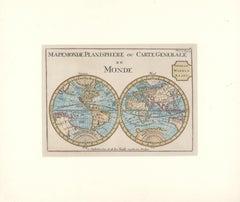 1706 de La Feuille Map of the World