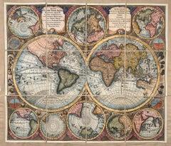 "World Map entitled ""Diversi Globi Terr-Aquei Statione Variante"" by Seutter"