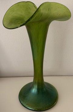 1890 Iridescent Art Nouveau Glass Vase