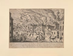 Fire 1776 in New York during the American Revolutionary War British Invasion