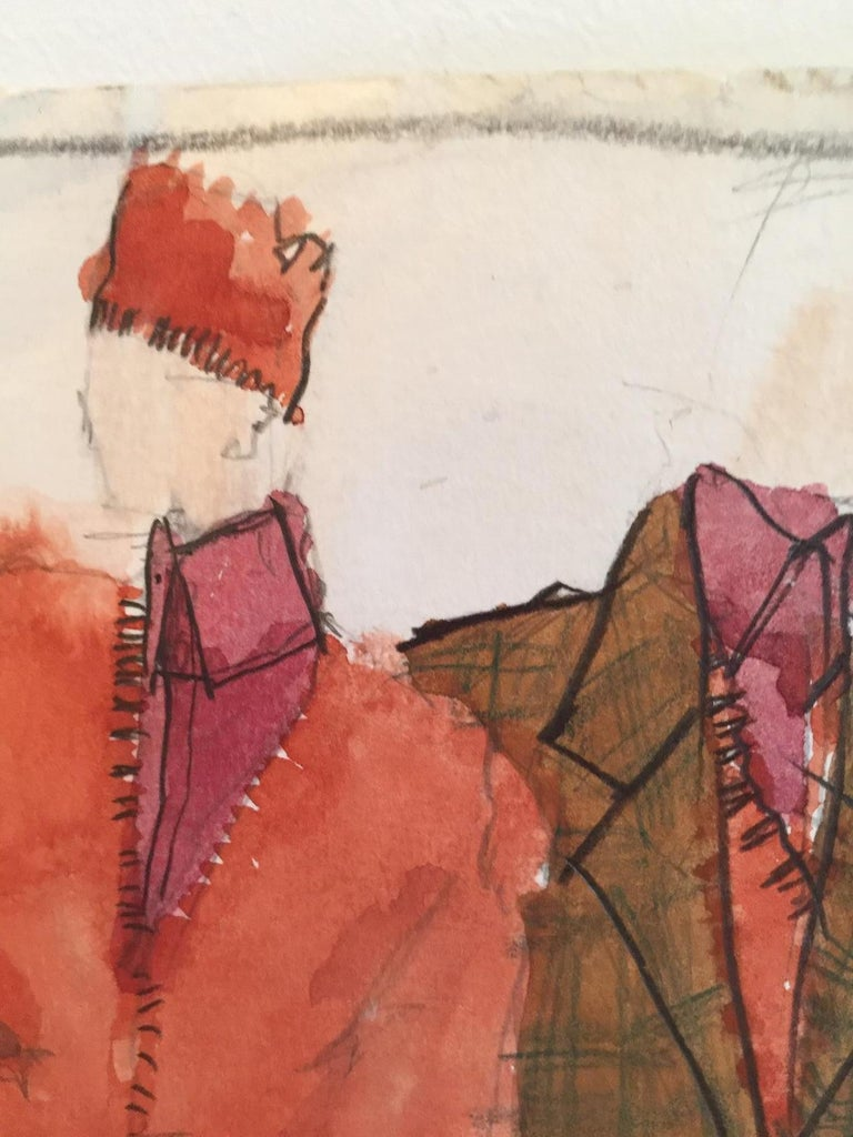 Rare Original Fashion Sketch With Production Notes - Realist Art by Gordon Henderson