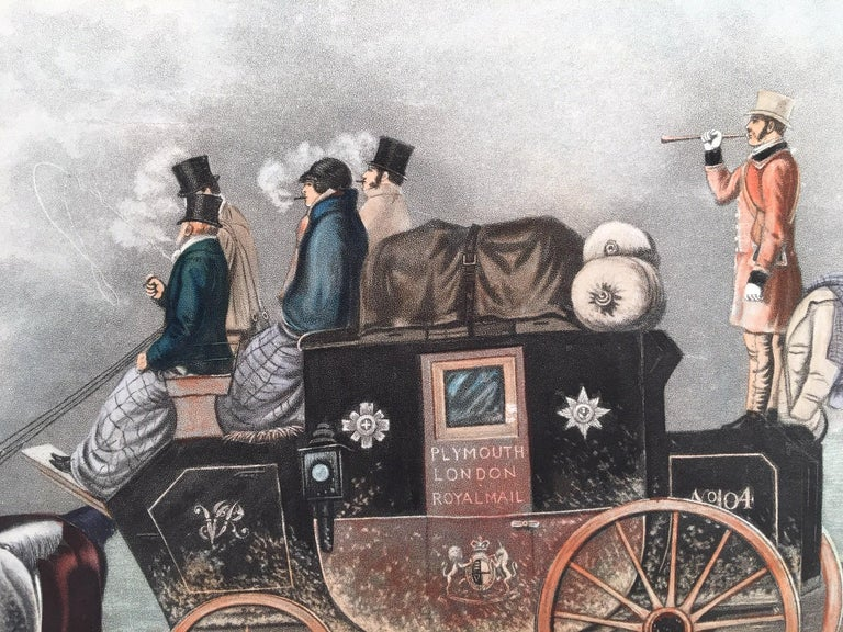Plymouth to London Royal Mail - Print by Thomas Walker
