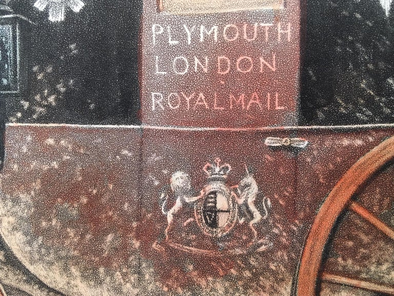 Plymouth to London Royal Mail - Realist Print by Thomas Walker