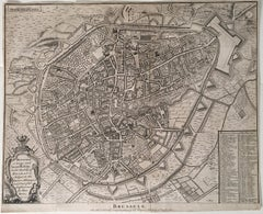 1732 Map of Brussels