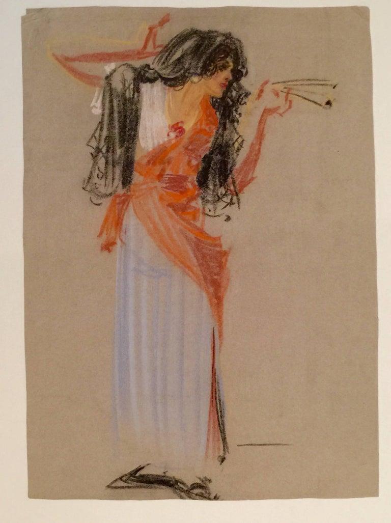 Henry Ives Cobb, Jr. Figurative Art - Carmen at Her Dance from the Opera