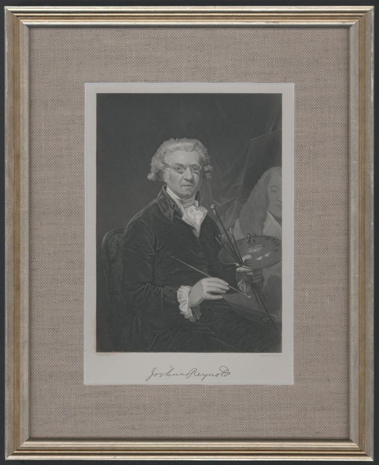Framed Portrait of Joshua Reynolds - Art by (after) Joshua Reynolds