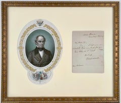 Engraving of Danial Webster and Signed Letter