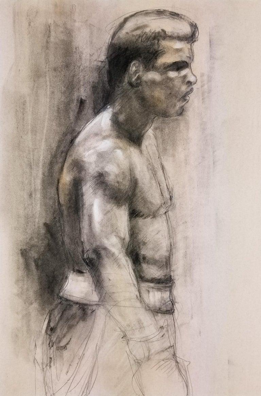 Homer Guerra Abstract Drawing - Ali vs. Frazier