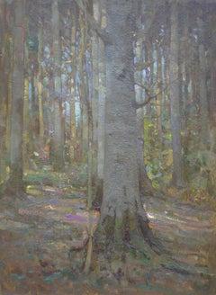 Slanting Sunlight - Oil painting, Victorian, Edwardian Landscape