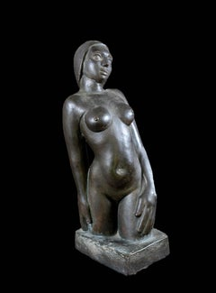 Allure - Glazed Terracotta Nude Sculpture
