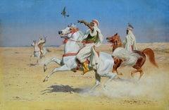 In Flight - Orientalist Watercolour