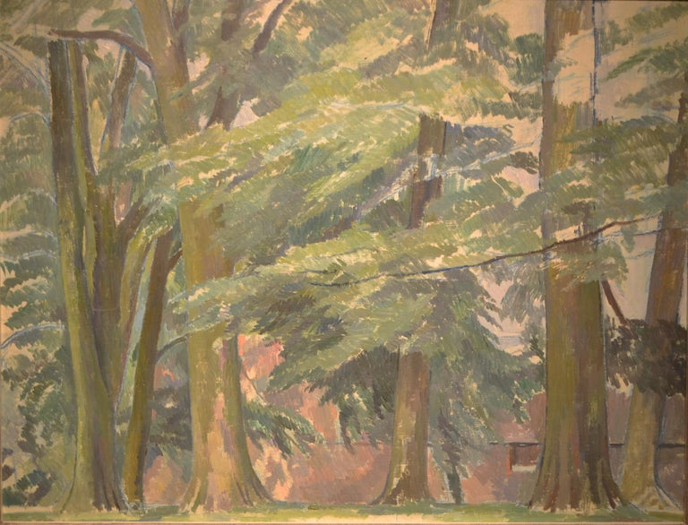 Percy Thornton Landscape Painting - A Wooded Landscape