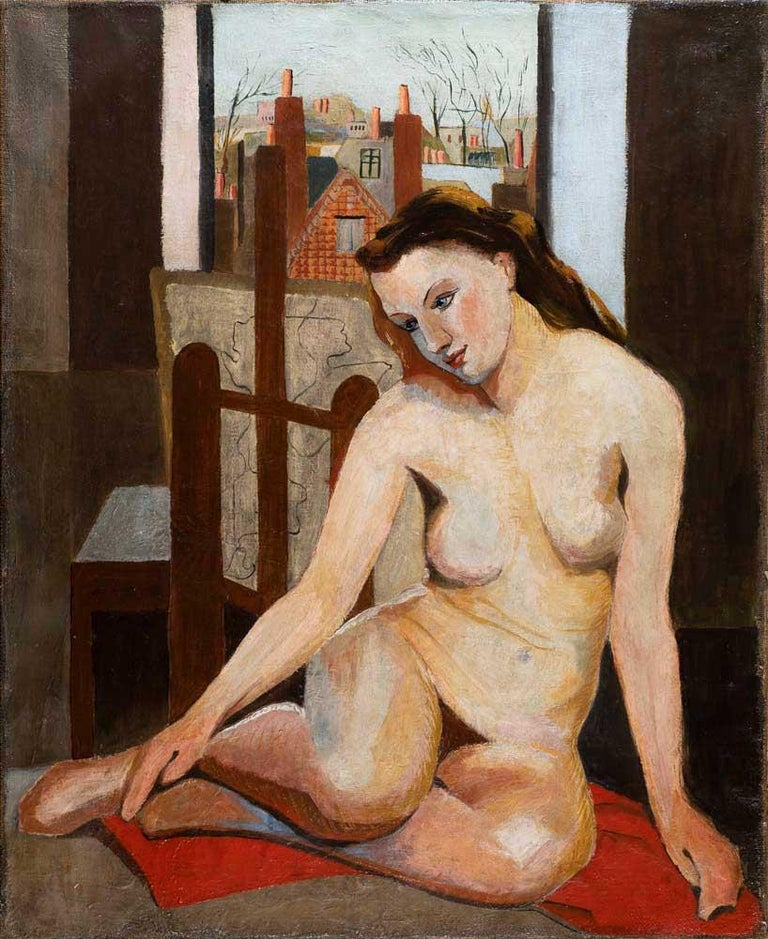 French School Figurative Painting - Nude
