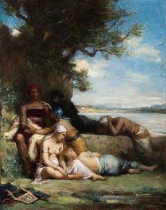 Orpheus mourning the death of Eurydice