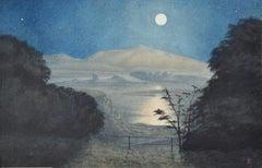 View Across a Lake, 19th Century British School Watercolour
