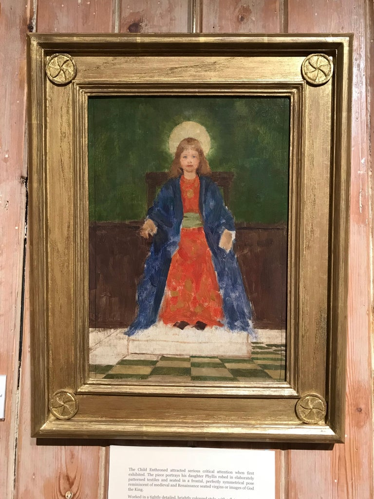 Study for The Child Enthroned - Painting by Thomas Cooper Gotch