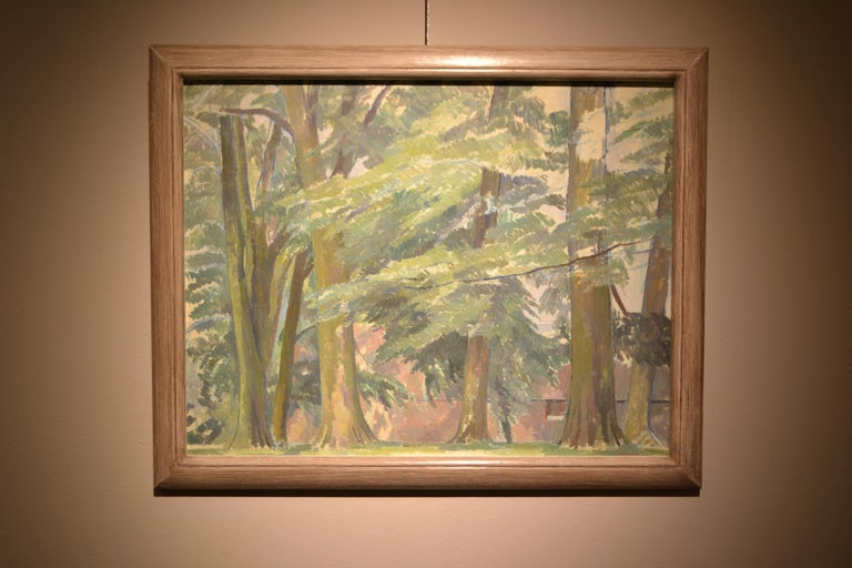 A Wooded Landscape - Painting by Percy Thornton