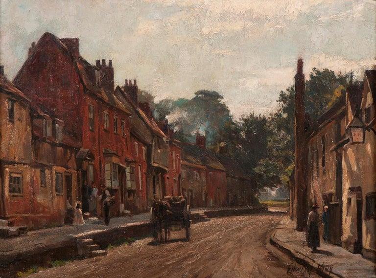 Edward King Landscape Painting - The Delivery - British, Oil, Landscape
